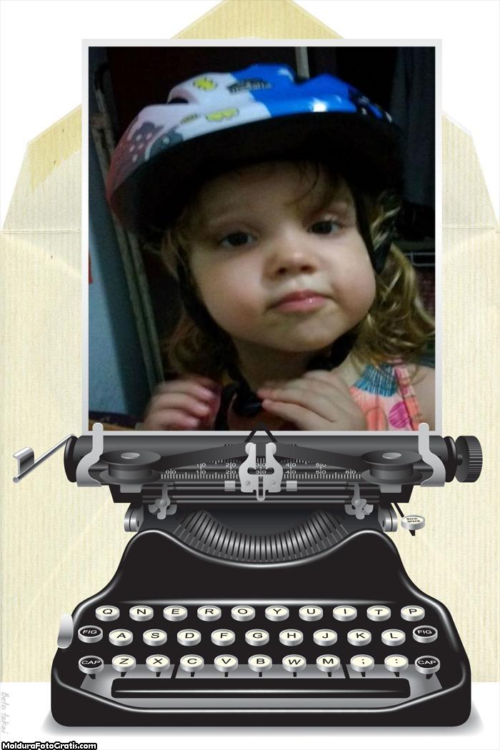 FotoMoldura Máquina de Escrever Antiga