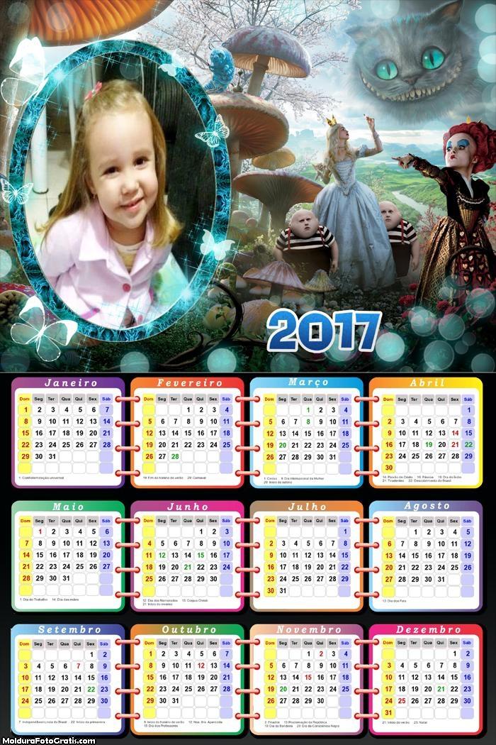 Calendário Alice no País das Maravilhas 2017