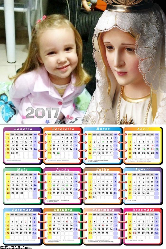 Calendário Nossa Senhora de Fátima 2017
