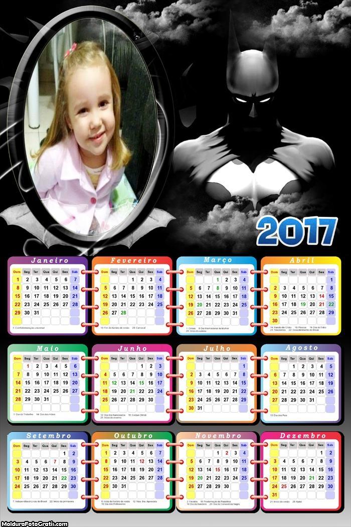 Calendário Foto Batman 2017