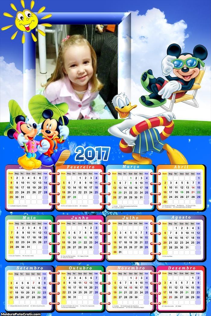 Calendário Férias na Disney 2017