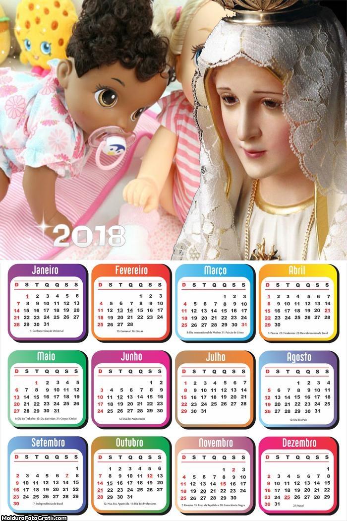 Calendário Nossa Senhora de Fátima 2018