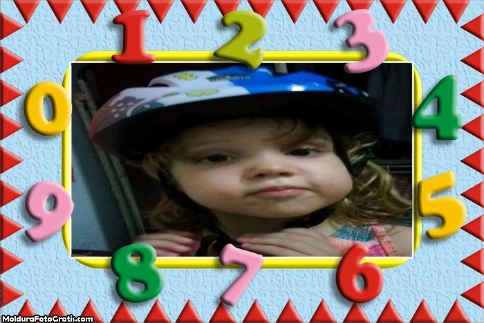 FotoMoldura Números Divertidos Infantil
