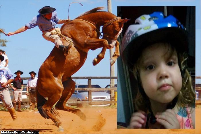 FotoMoldura Peão Domando Cavalo