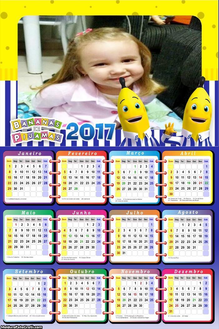 Calendário Banana de Pijamas Descendo as Escadas 2017