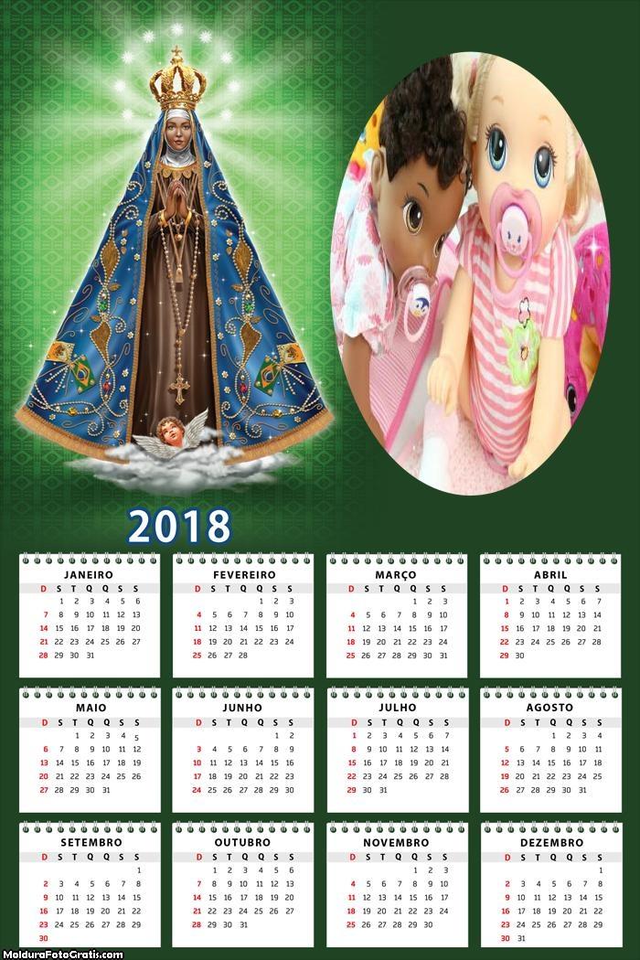 Calendário Nossa Senhora 2018