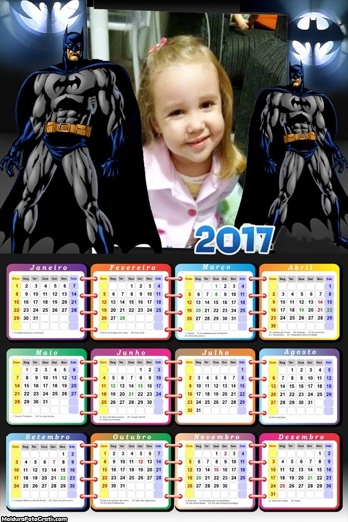 Calendário Batman News 2017