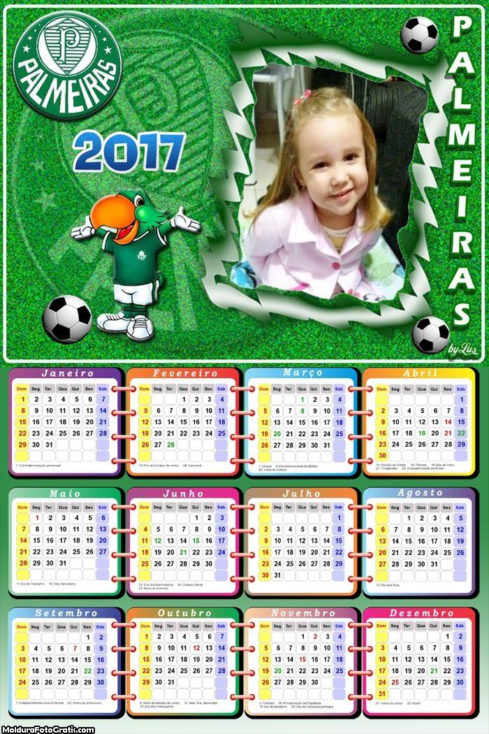 Calendário Palmeiras Papagaio 2017