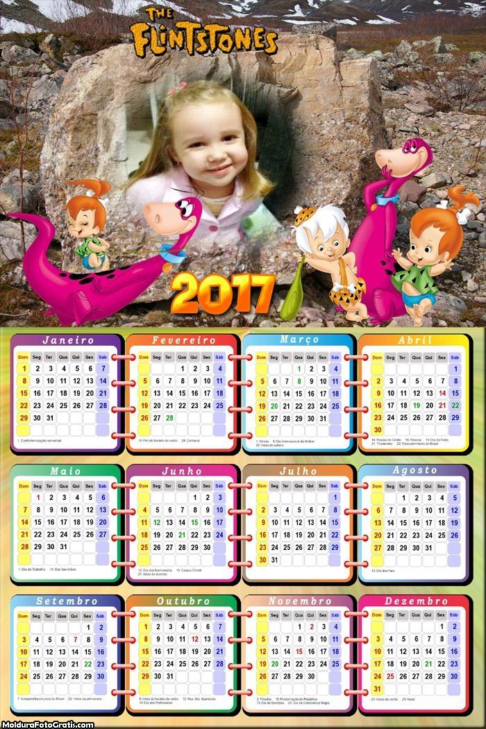 Calendário Dinossauro Flintstones 2017