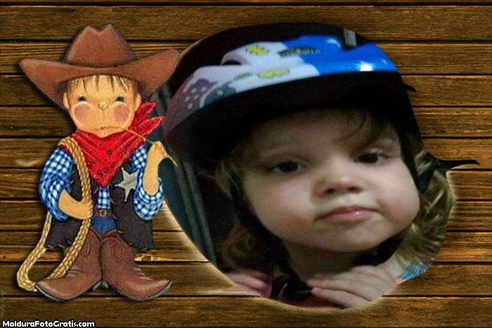 FotoMoldura Menino Cowboy Rodeio