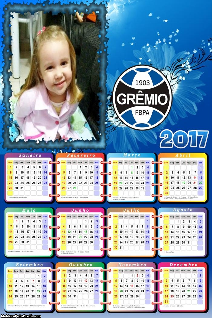 Calendário Time Grêmio 2017