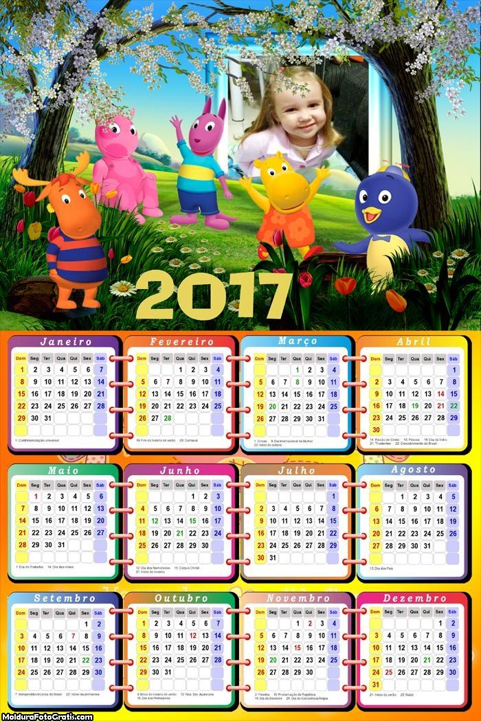 Calendário Jardim dos Backardigans 2017