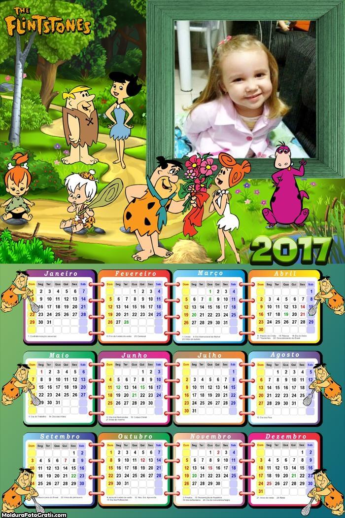 Calendário dos Flintstones 2017