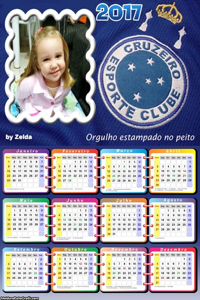 Calendário do Cruzeiro Time Futebol 2017