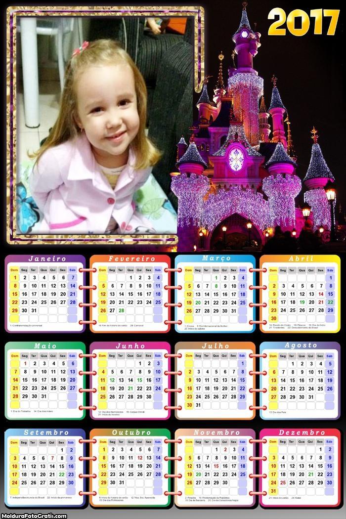 Calendário Castelo Mágico Disney 2017