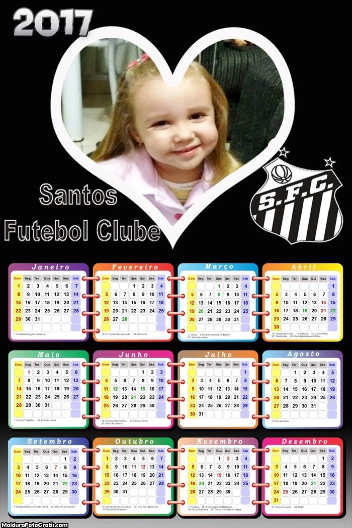 Calendário do Santos 2017