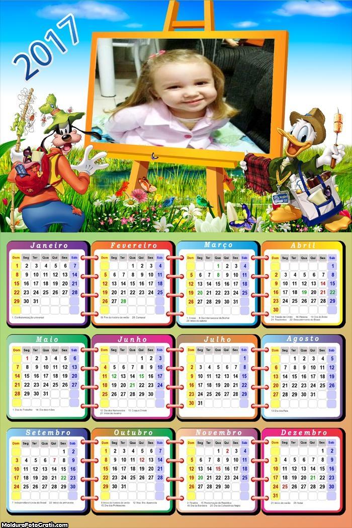 Calendário Outdoor Patetá e Donald 2017