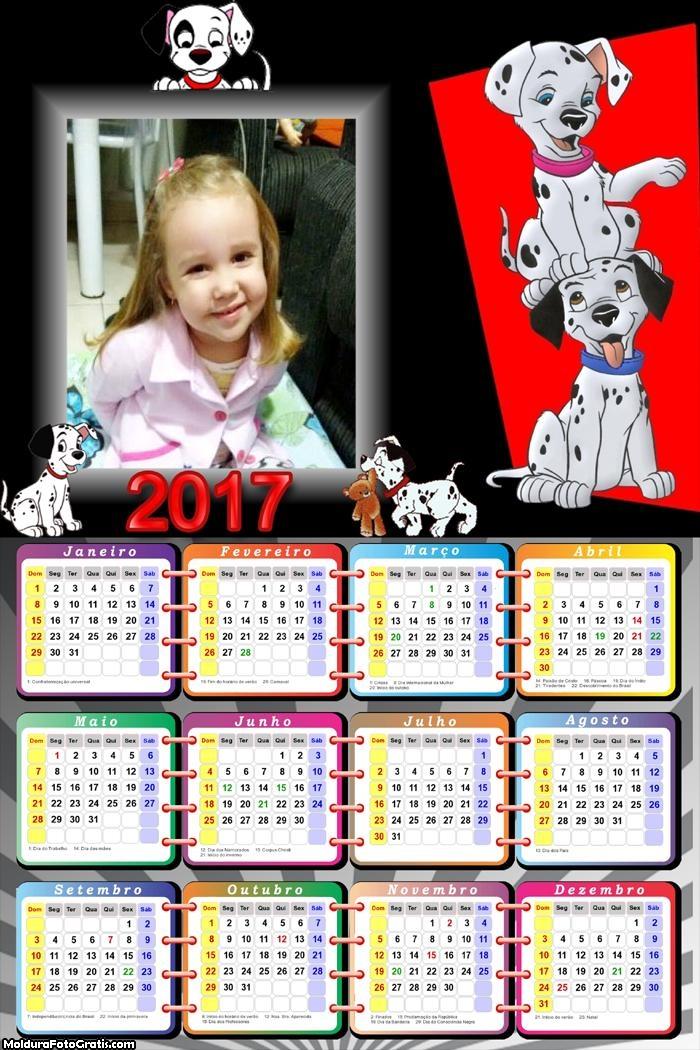 Calendário 101 Dálmatas Cachorrinhos 2017