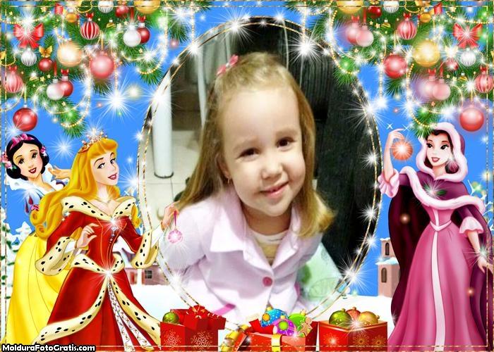 Moldura Natal Princesas Disney
