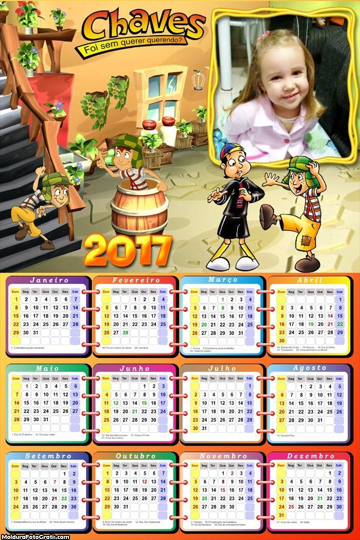 Calendário Desenho Chaves 2017