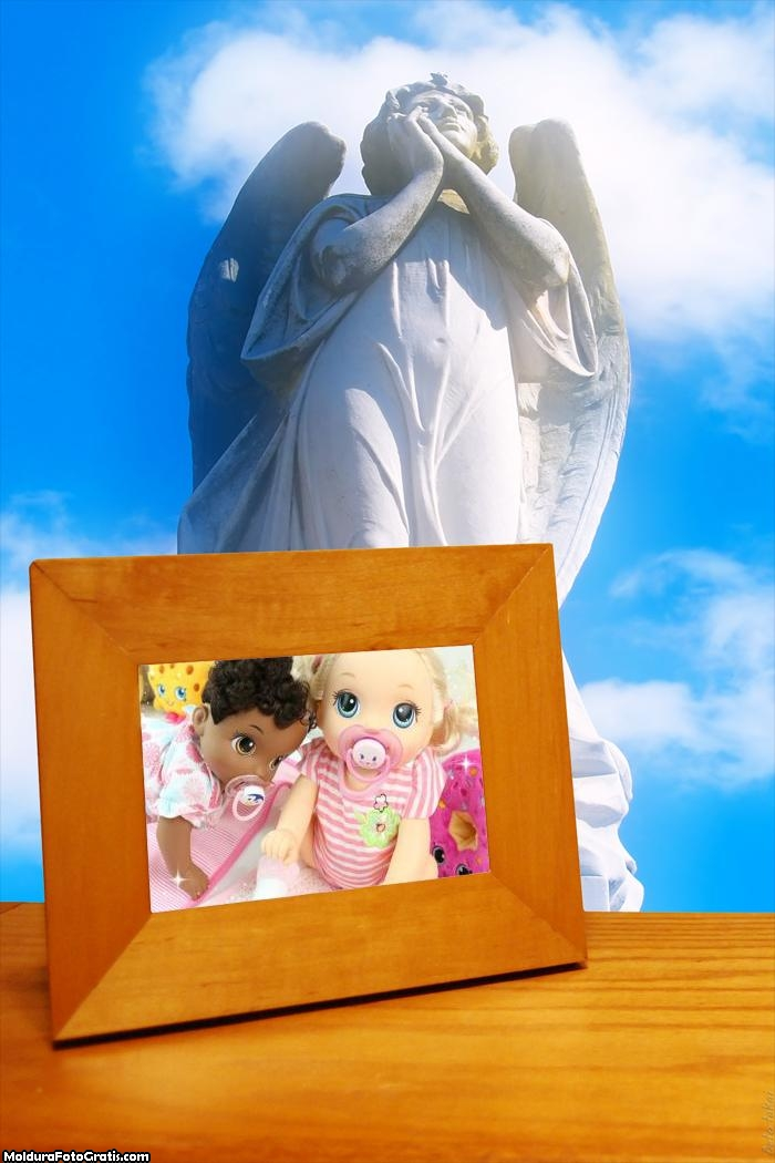 Porta Retrato com Escultura de Anjo