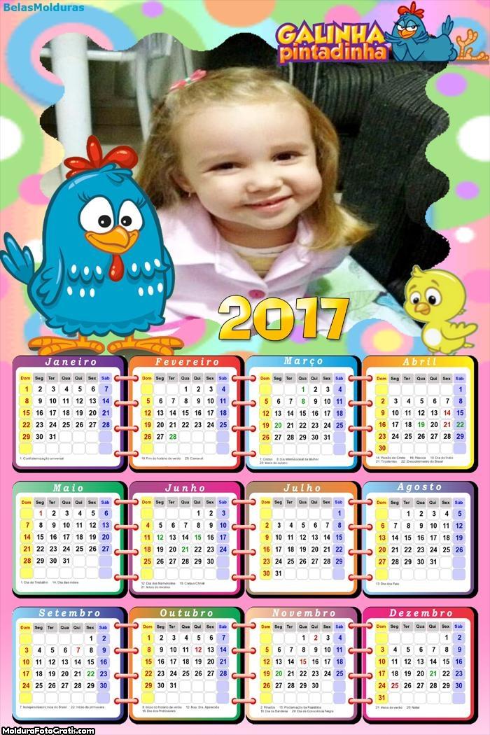 Calendário da Galinha Pintadinha 2017