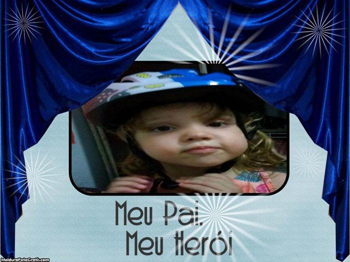FotoMoldura Meu Pai Meu Herói
