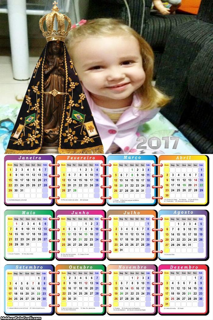Calendário Nossa Senhora 2017