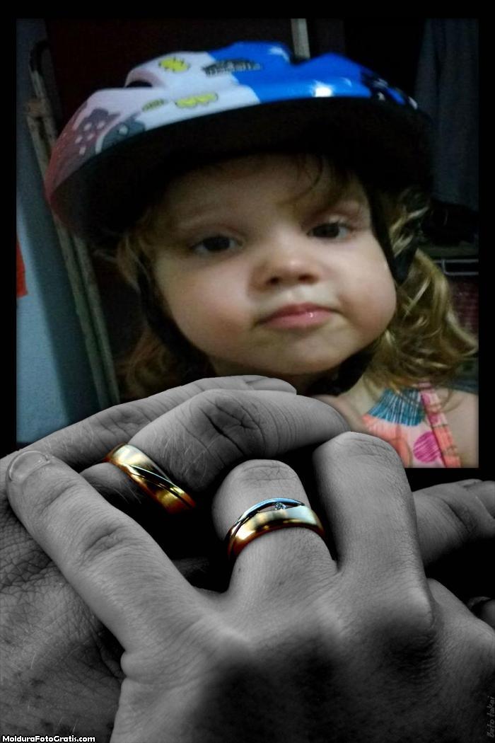 FotoMoldura Mãos com Alianças