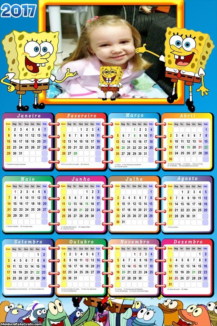 Calendário Bob Esponja Meme 2017