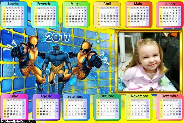 Calendário Wolverine X Men Apocalipse 2017