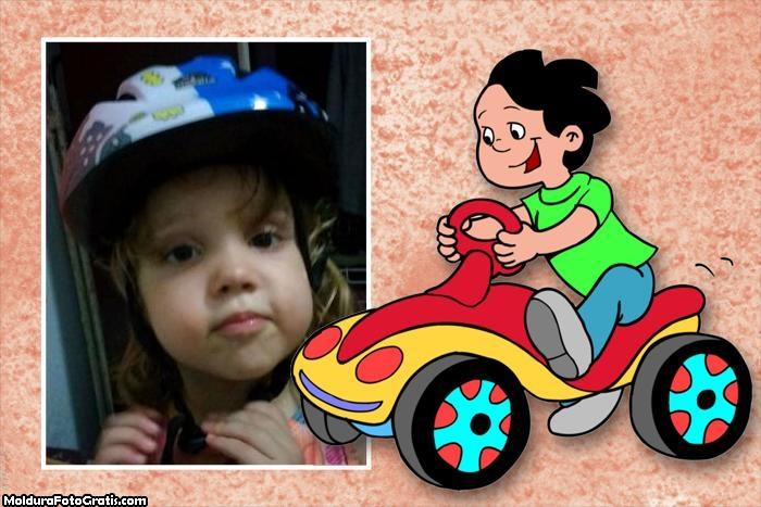 FotoMoldura Menino No Tricicolo Infantil