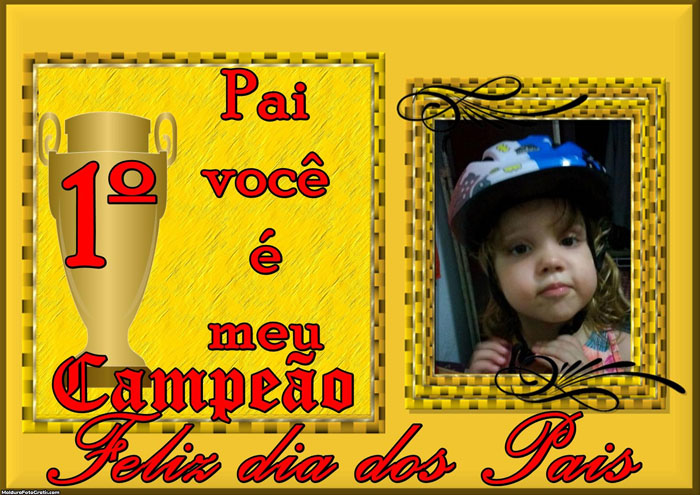 FotoMoldura Meu Pai Campeão
