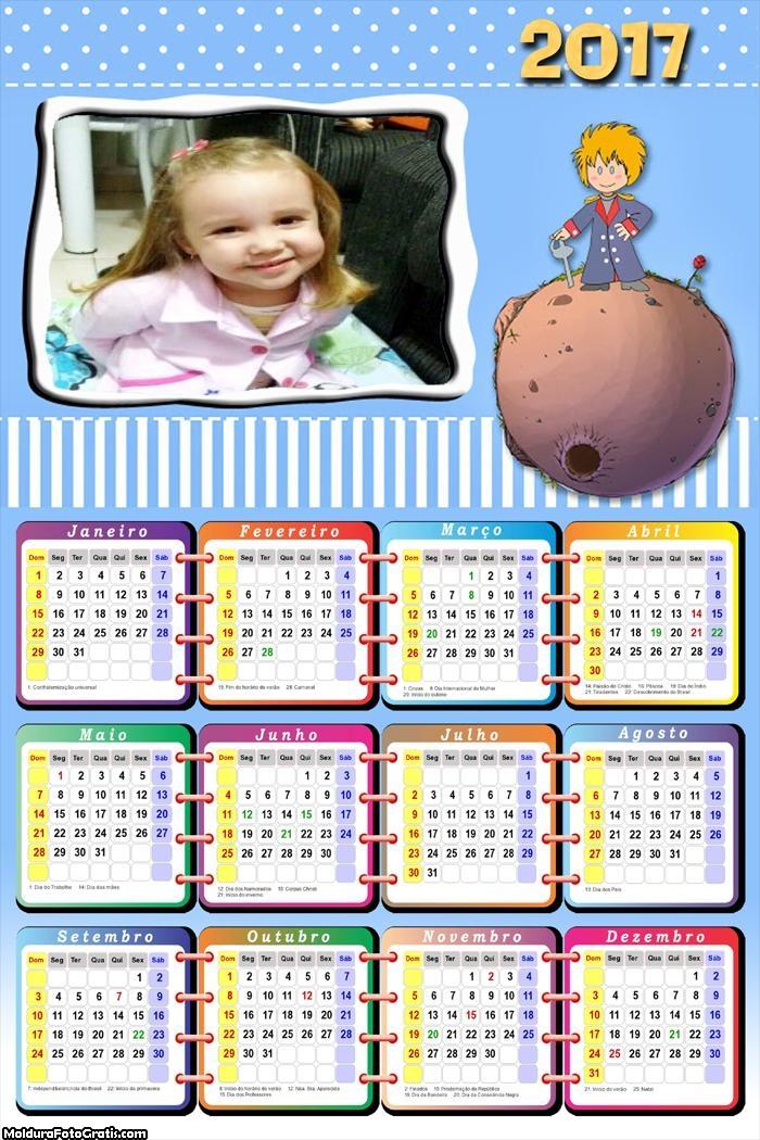 Calendário Pequeno Príncipe 2017