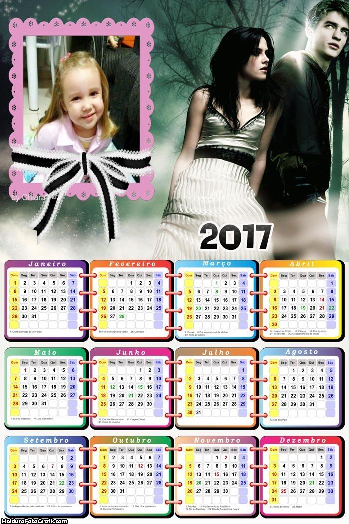 Calendário Bella Crepúsculo 2017