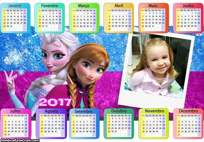 Calendário Princesas Elsa e Ana 2017