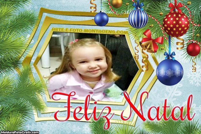 Moldura Feliz Natal Enfeites