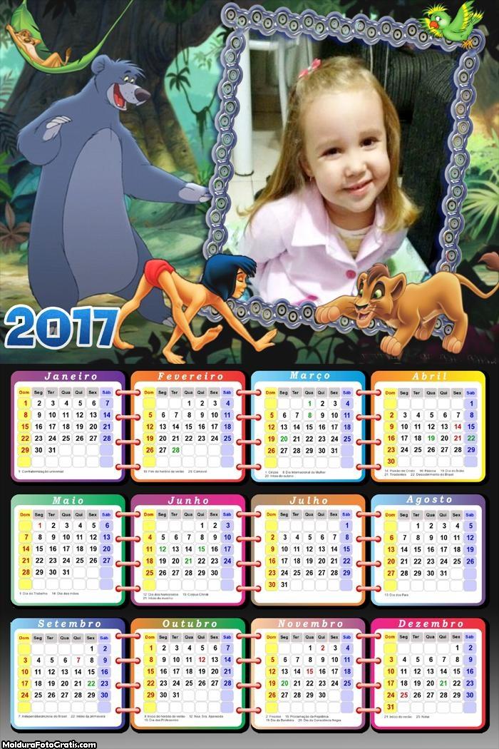 Calendário do Tarzan 2017
