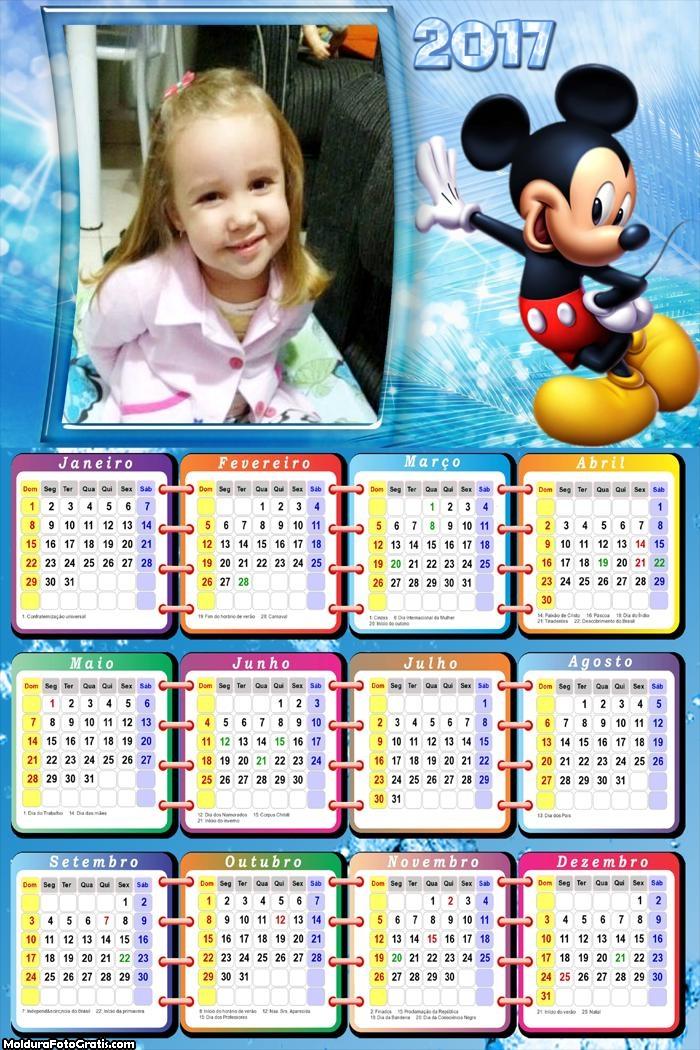 Calendário Mickey Gall 2017