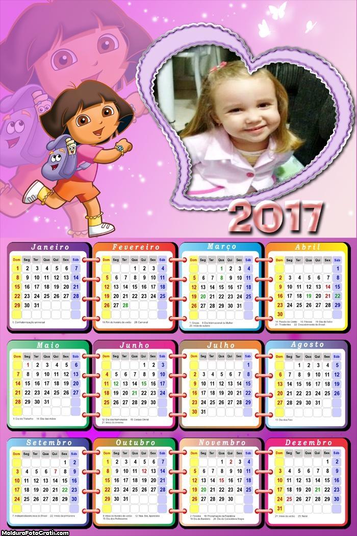 Calendário Dora Aventureira 2017
