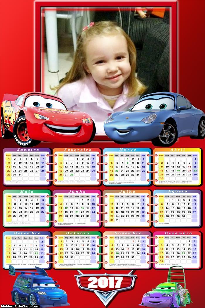 Calendário Car Movie 2017