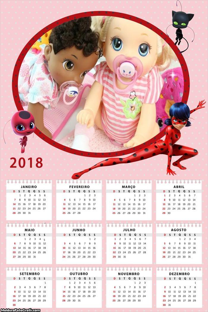 Calendário Miraculous Ladybug 2018
