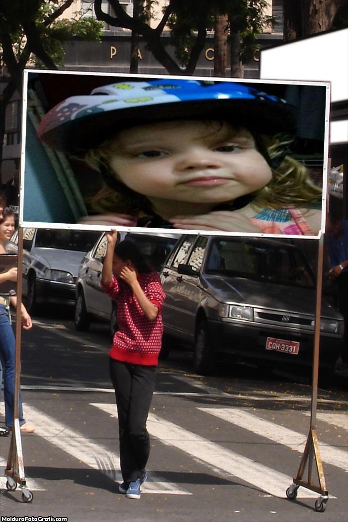 FotoMoldura Placa No Trânsito Outdoor