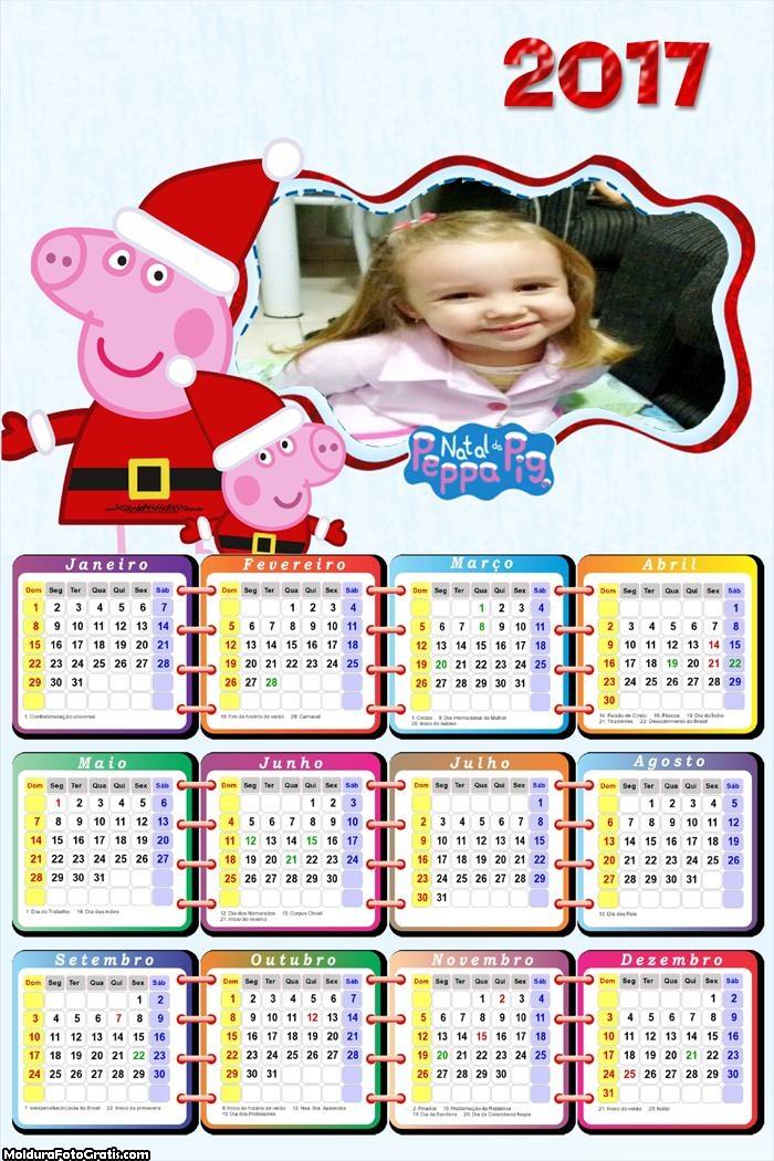 Calendário Natal Peppa Pig 2017