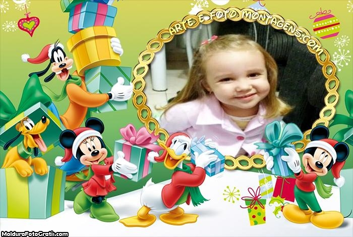Natal da Turma do Mickey Foto Moldura