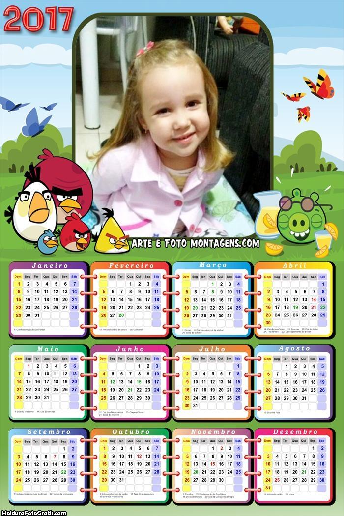 Calendário dos Angry Birds 2017