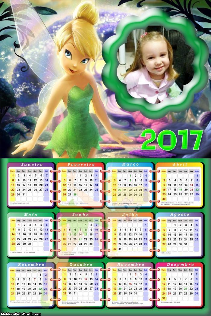 Calendário da Tinkerbell Fada 2017