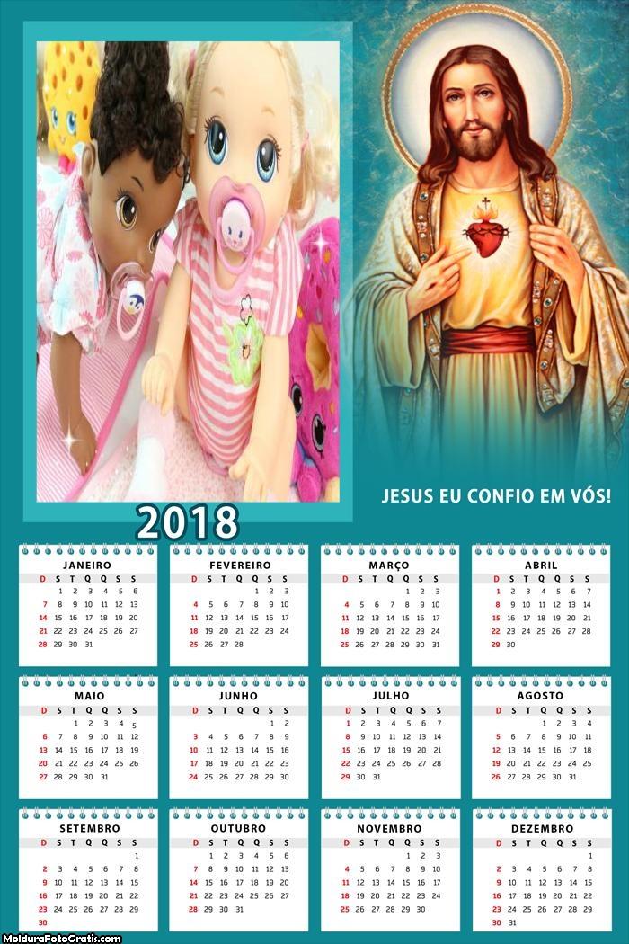 Calendário Senhor Jesus 2018