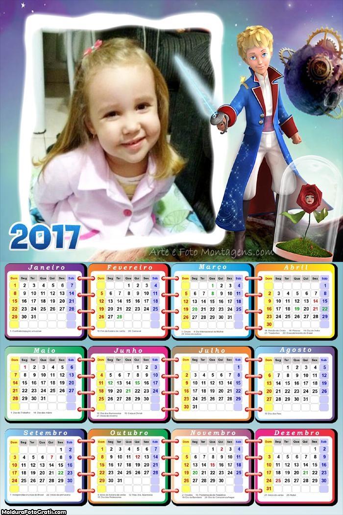 Calendário Pequeno Príncipe FotoMoldura 2017