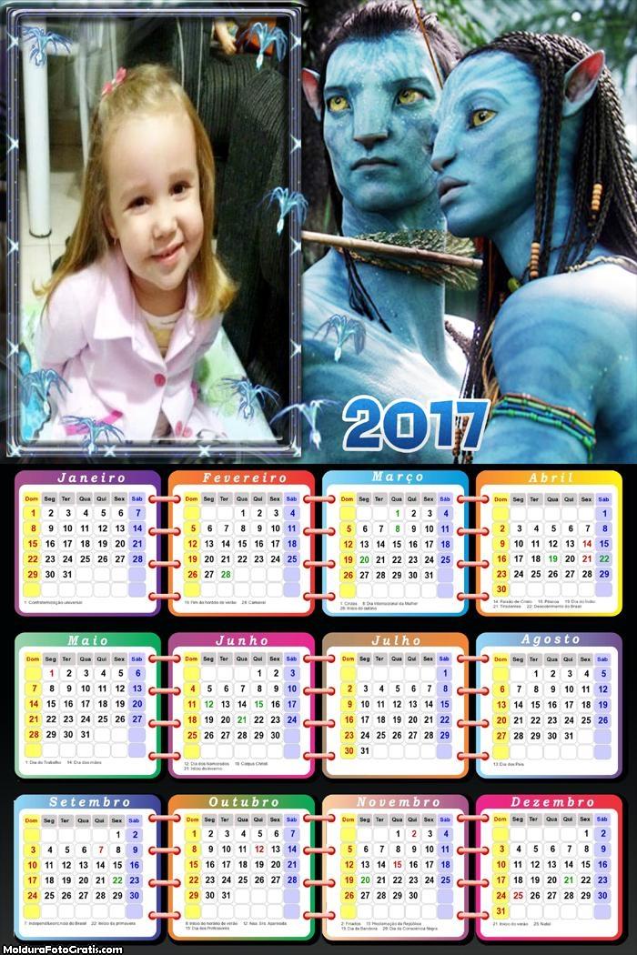 Calendário do Filme Avatar 2017